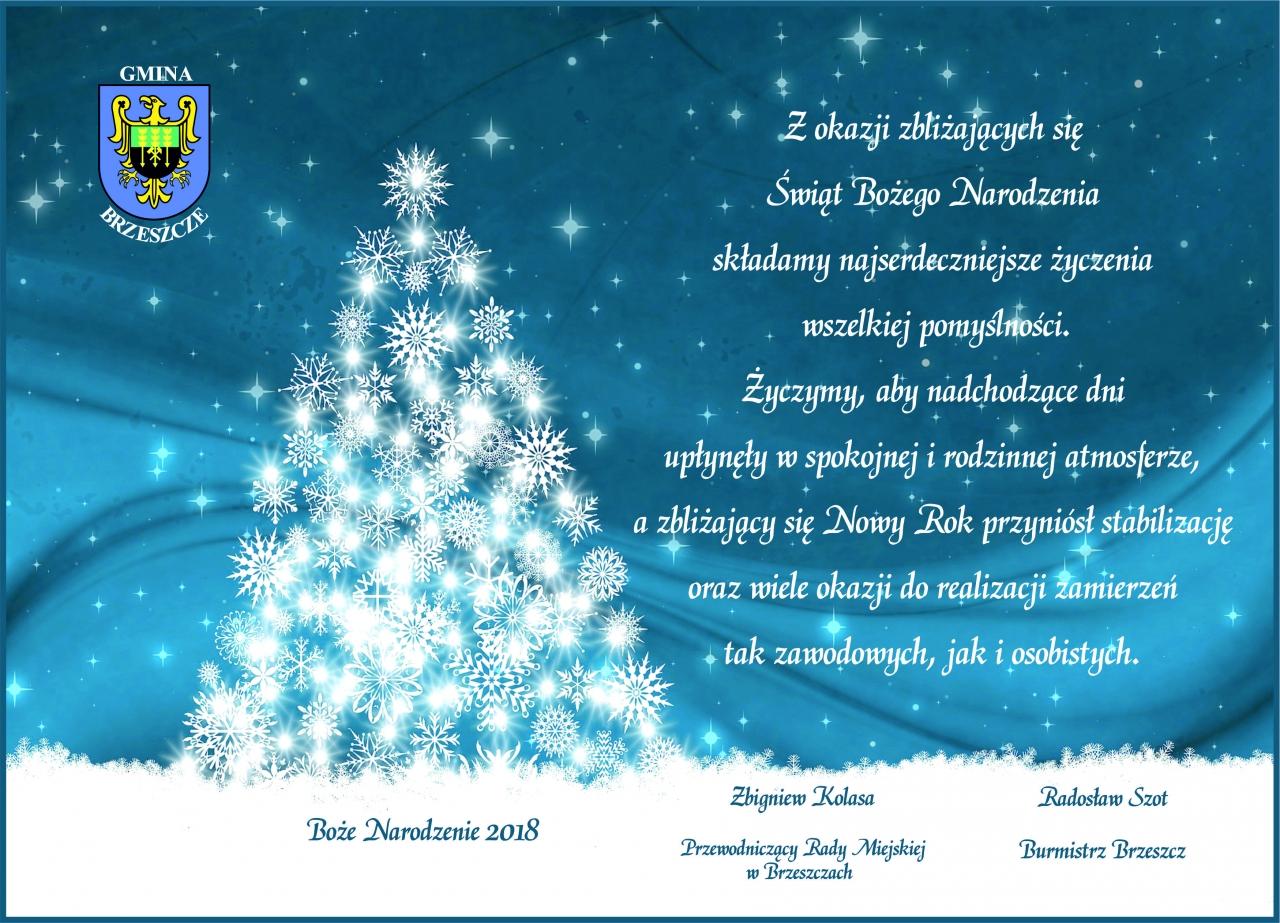 Boże Narodzenie 2018 Gmina Brzeszcze